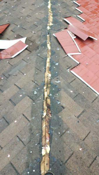 roof repair - damage underneath